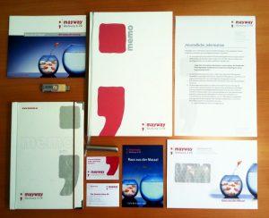 Das Corporate Design von mayway Werbung und PR