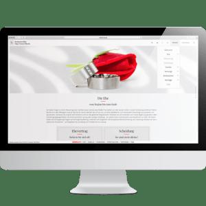 Bildschirm mit geöffneter Website Pitterle Law