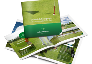 Folder für den Kunden Golfclub Frühling