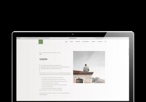 Notebook mit geöffneter Website Wirtschaftsquadrat