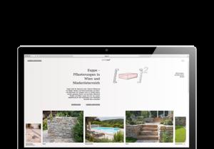 Notebook mit geöffneter Website Zappe Pflasterungen